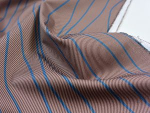Hochwertiger Baumwoll Stretch Hosenstoff | Wavelines blue