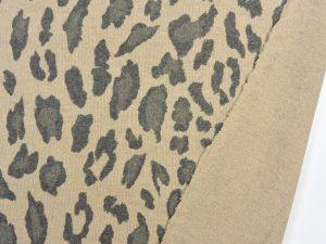 Fashion Jacquard   Leo Print camel