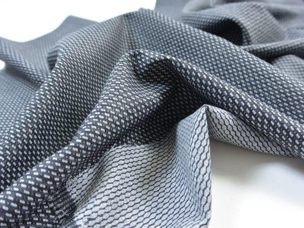 Fashion Woll Stretch Hosenstoff | Small Rectangle grey