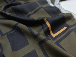 Light Fashion L Print Satin | khaki