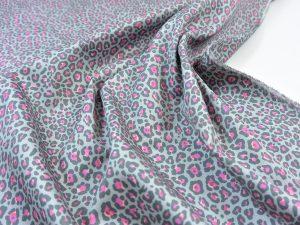 Hochwertiger Baumwoll Stretch Hosenstoff | Midi Leo pink