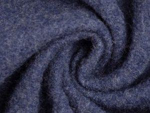 Wollwalk aus 100% Schurwolle | dunkelblau meliert