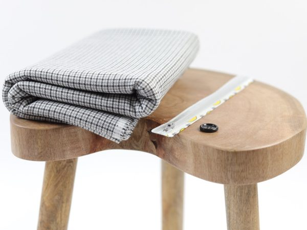 DIY Kit Hose Alessia | Viskose Stretch Fashion Check grey