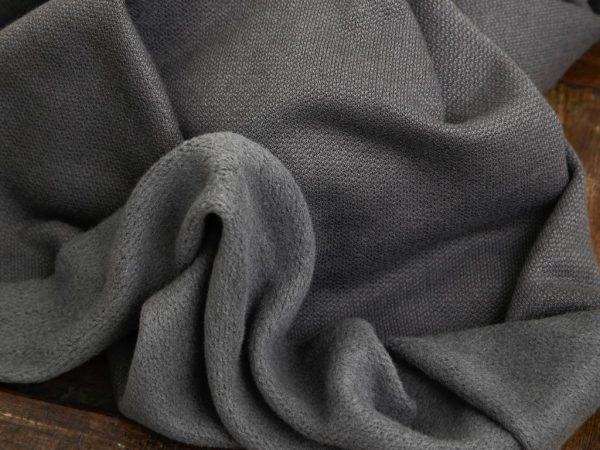 Organic Woolen Fleece Sweat calm grey