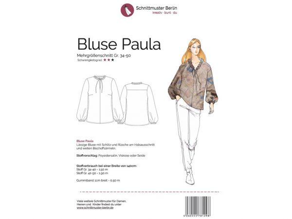 Schnittmuster Berlin | Papierschnittmuster Bluse Paula