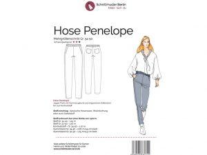 Schnittmuster Berlin | Papierschnittmuster Hose Penelope