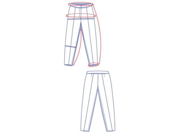 fibremood | Papierschnittmuster Hose Billie