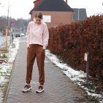 Cargohose | Slope Striped Viskose caramel und Sweater Megan | Soft Sweat peach