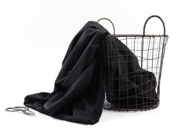 Italian Faux Stretch Suede | black