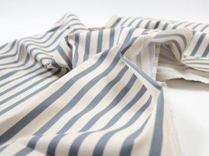 Fibremood Molly Coat | Stretch Cotton Ocean Stripes