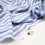 Fibremood Paulette Blouse | Woven Viskose Blue Stripes