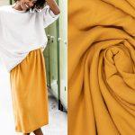 Fibremood Rozan, Bloom & Grace | Woven Lyocell mustard