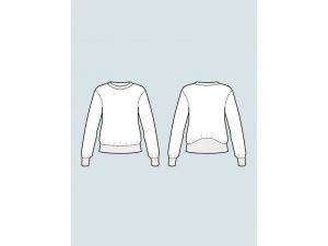 The Assembly Line | High Cuff Sweater XS-L | Papierschnittmuster englisch