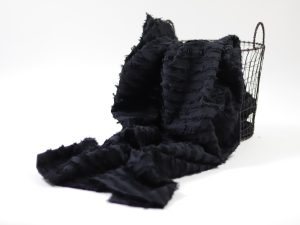 Summer Cotton Jacquard | Fringe Stripes schwarz