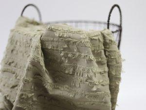 Summer Cotton Jacquard | Fringe Stripes oliv