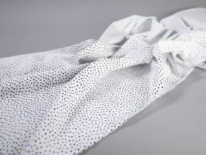 Baumwoll Webware | Dotties schwarz weiß