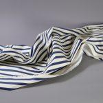 Fibremood Molly Coat & Maya Dress | Stretch Cotton navy Stripes