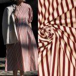 Fibremood Molly Coat | Stretch Cotton scarlet Stripes