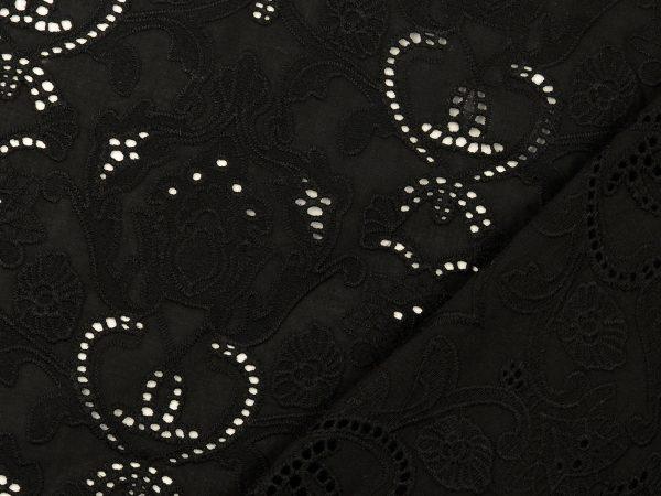 Embroidery Cotton | black Arabesque