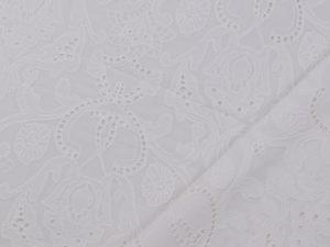 Embroidery Cotton | white Arabesque