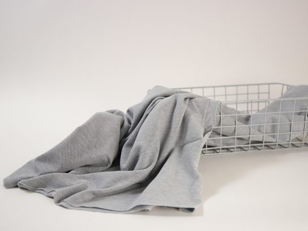 Cotton Piqué Jersey light grey