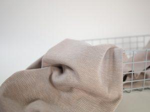 Cotton Piqué Jersey sand Nahaufnahme