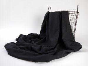 Linen- Cotton T- Shirt Jersey | so black