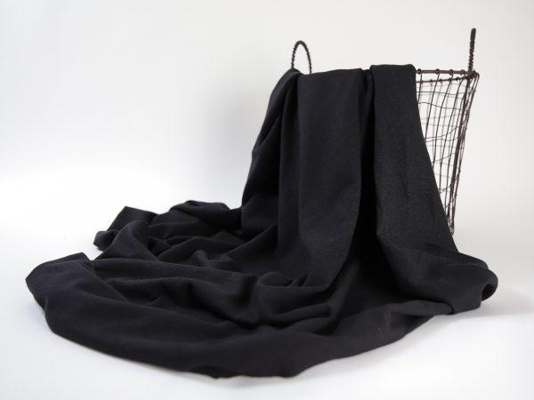 Linen- Cotton T- Shirt Jersey   so black