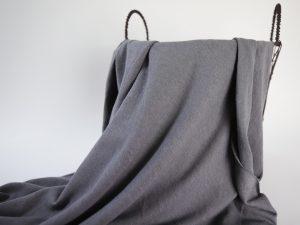 Linen- Cotton T- Shirt Jersey | asphalt