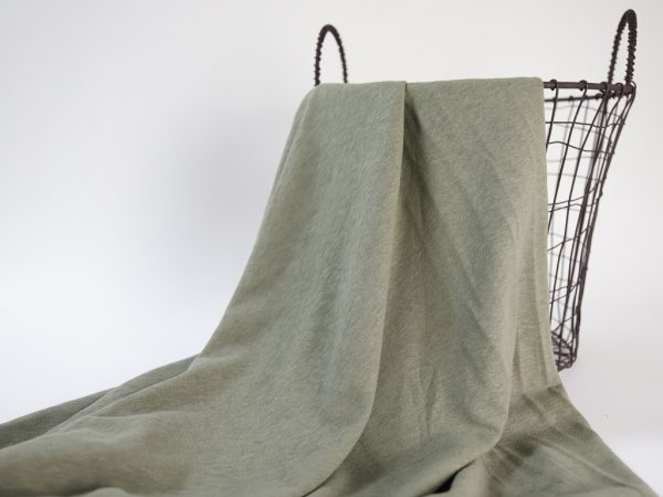 Linen- Cotton T- Shirt Jersey | olive
