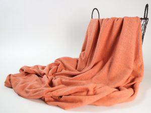 Linen- Cotton T- Shirt Jersey | papaya