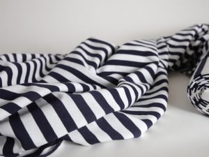 Yarn Dyed French Terry | navy white