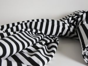 Yarn Dyed French Terry | black white
