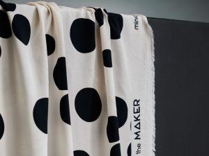 Mind the Maker ECOVERO™ Viskose About A Dot creamy white