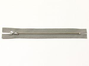 OPTI 18 cm Hosen Reißverschluss Metall silber | hellgrau