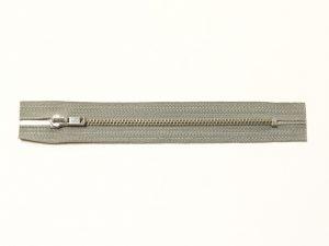 OPTI 14 cm Hosen Reißverschluss Metall silber | hellgrau