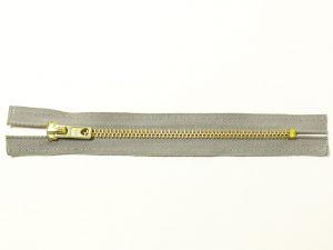 OPTI 16 cm Hosen Reißverschluss Metall gold | hellgrau