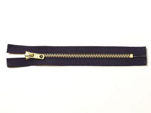 OPTI 16 cm Hosen Reißverschluss Metall gold | dunkelblau