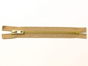 OPTI 16 cm Hosen Reißverschluss Metall gold   beige