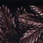 Dark Leaves by Thorsten Berger   Viskose Webware   bordeaux
