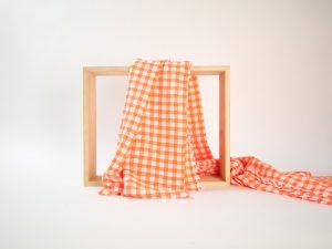 Fashion Karo Seersucker | orange