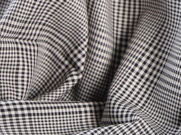 Eleganter Blusenstoff Viskose | black & white checked