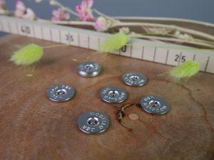 Druckknöpfe zum Einnähen Metall silber