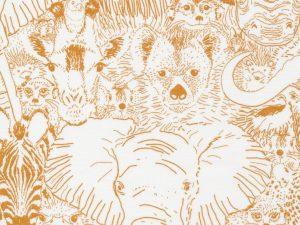 Cloud9 Fabrics Baumwolle Grasslands Wild Thing | Gold