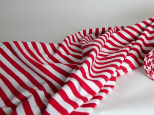Yarn Dyed French Terry | red white