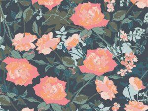 Art Gallery Baumwolle Picturesque Rosemantic Trellis Dim