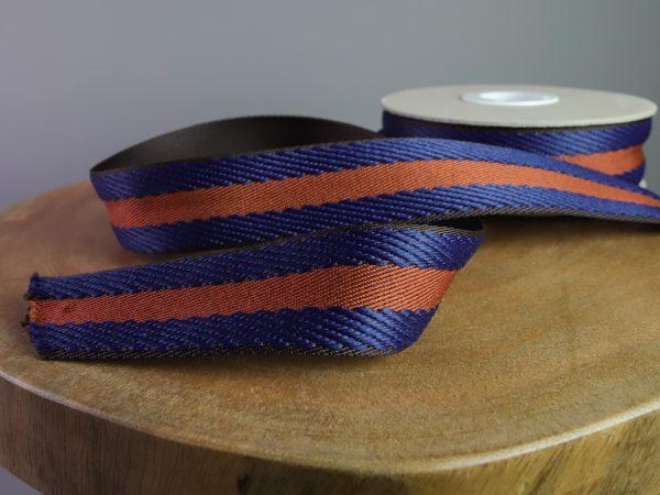 Gurtband Stripes 40 mm   dunkelblau