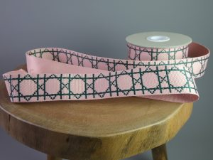 Gurtband Grafisch 38 mm | rosa