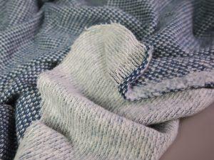 Knitted Jacquard   petrol & white