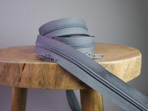 Reißverschluss Meterware dunkelgrau | ohne Zipper